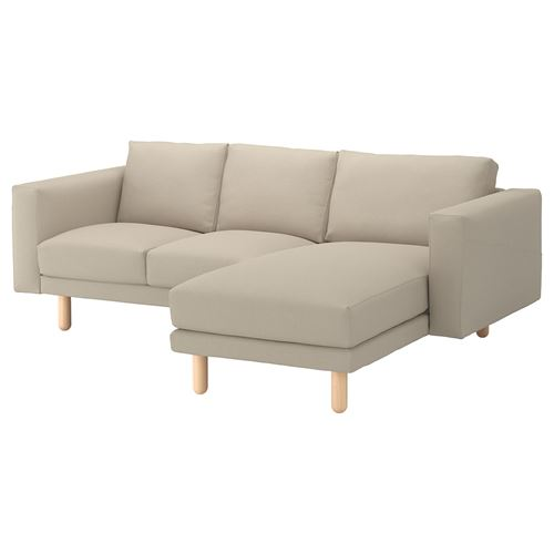 NORSBORG,2-seat sofa and chaise longue cover