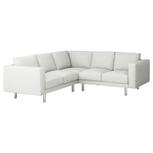 NORSBORG 5 seat corner sofa and chaise longue finnsta white grey