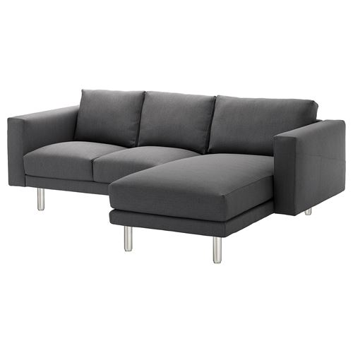 NORSBORG,2-seat sofa and chaise longue