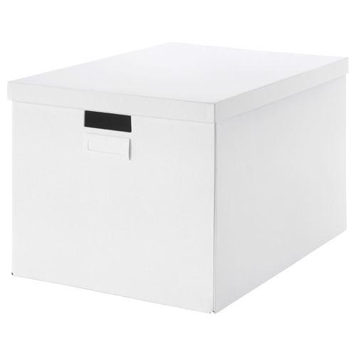 tjena kapakl kutu beyaz 50x35x30 cm ikea yeriniz in. Black Bedroom Furniture Sets. Home Design Ideas