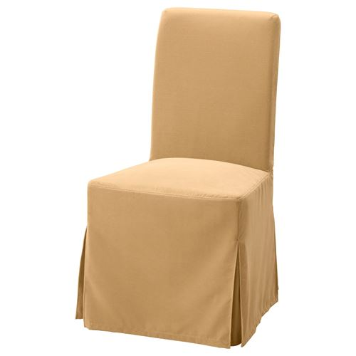 Henriksdal Chair Cover Djuparp Yellow Beige Ikea Dining Room