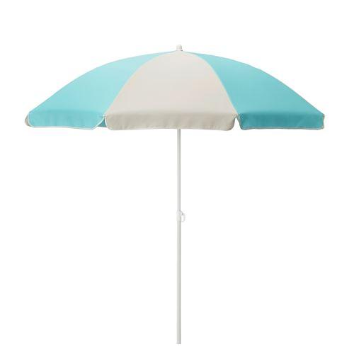 RAMSÖ parasol turquoise/light beige 160 cm | IKEA Outdoor