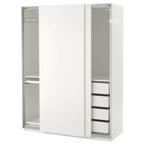 pax hasvik sliding door wardrobe white 150x66x201 cm ikea bedroom. Black Bedroom Furniture Sets. Home Design Ideas