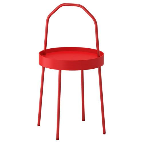 Burvik pedestal table red 38 cm ikea living room for Hover tr table