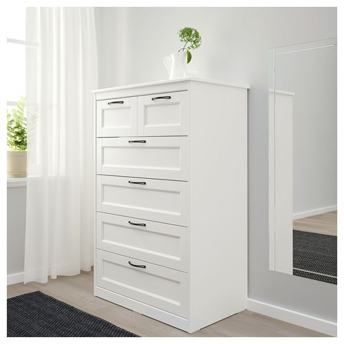 SONGESAND,chest of 6 drawers