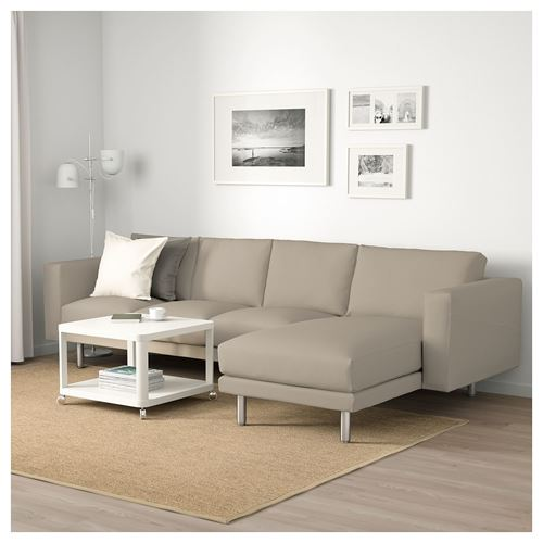 NORSBORG,3-seat sofa and chaise longue