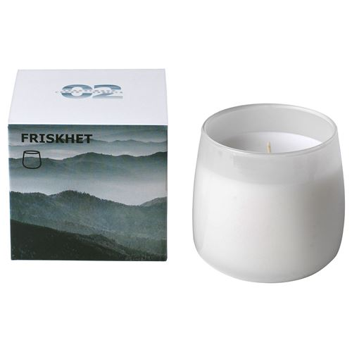 FRISKHET,scented candle in glass