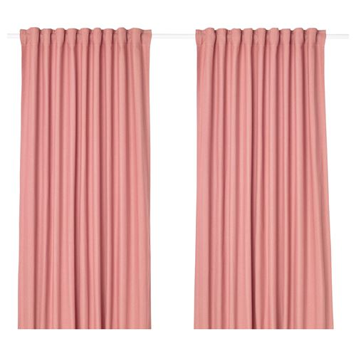 TIBAST curtains, 1 pair pink 145x300 cm | IKEA Living Room