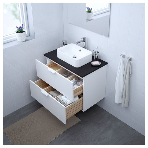 GODMORGON/TOLKEN/HÖRVIK,wash-basin and cabinet