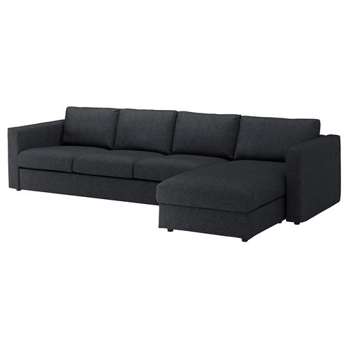 VIMLE,3-seat sofa and chaise longue