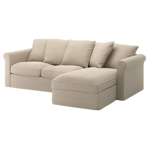 GRÖNLID,2-seat sofa and chaise longue