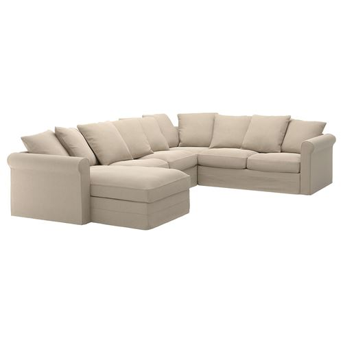GRÖNLID,5-seat corner sofa and chaise longue