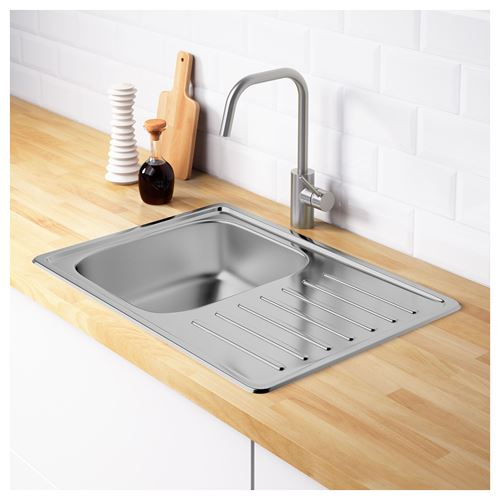 FYNDIG,1 bowl insert sink with drainer