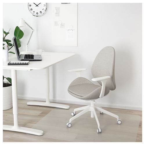 HATTEFJALL,swivel chair with armrests