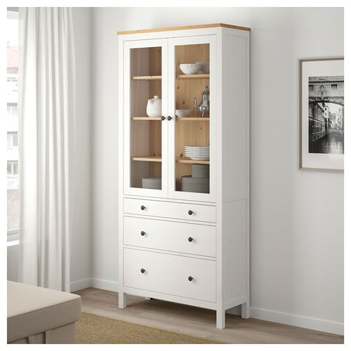HEMNES,glass-door cabinet
