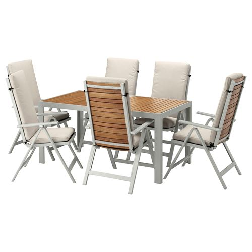 SJALLAND,dining table and adjustable chairs