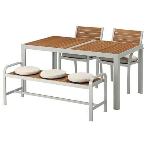 SJALLAND,dining table-chair-bench set