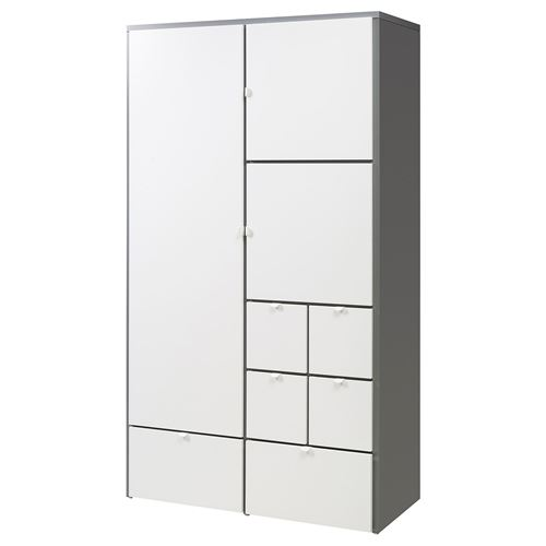 Visthus gard rop gri beyaz 122x59x216 cm ikea yatak odalar for Bureau 50 cm de large