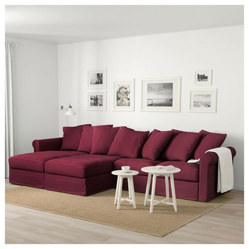 GRÖNLID,2 chaise longues and 2-seat sofa