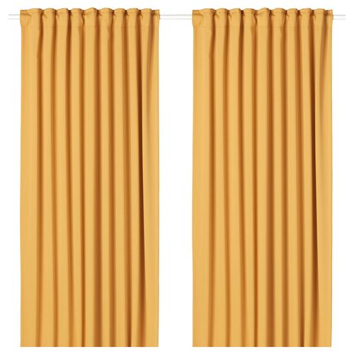 MAJGULL,blackout curtain, 1 pair