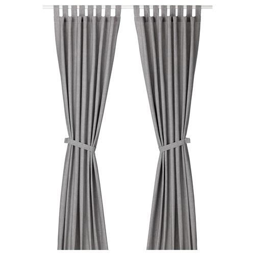 LENDA,curtains with tie-backs, 1 pair