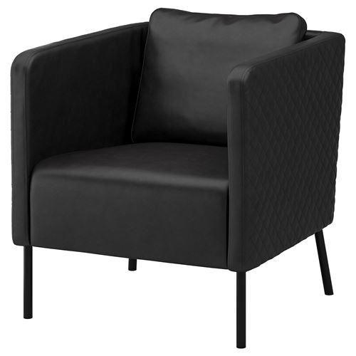 EKERÖ armchair kimstad black | IKEA Living Room