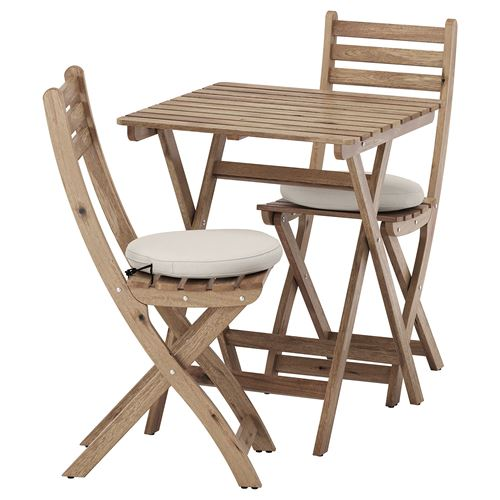 ASKHOLMEN,folding chair and table set