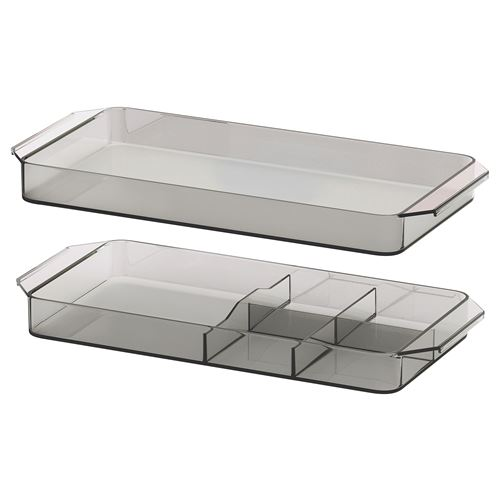 GODMORGON drawer organizer smoked | IKEA Bathroom