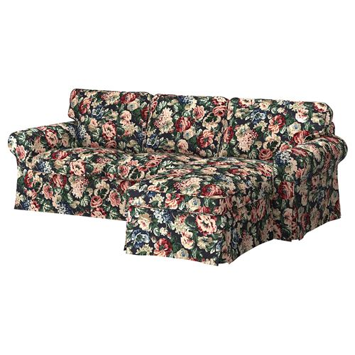 EKTORP,3-seat sofa and chaise longue cover