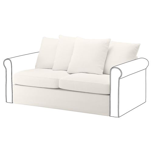 GRÖNLID,2-seat sofa-bed cover