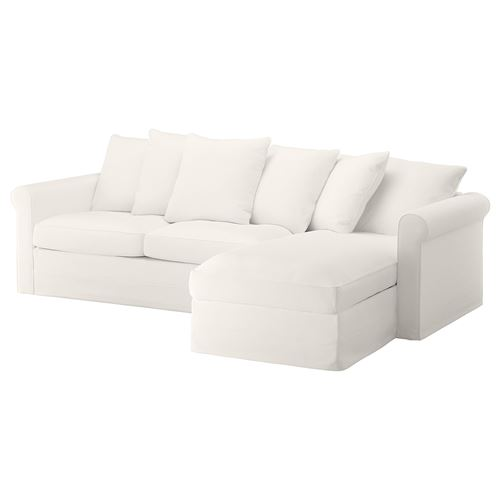 GRÖNLID,2-seat sofa bed with chaise longue