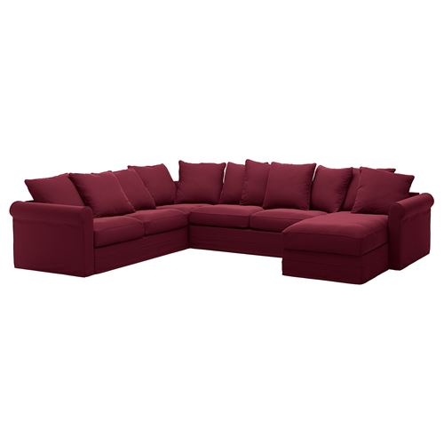 GRÖNLID,corner sofa-bed 4-seat and chaise longue cover