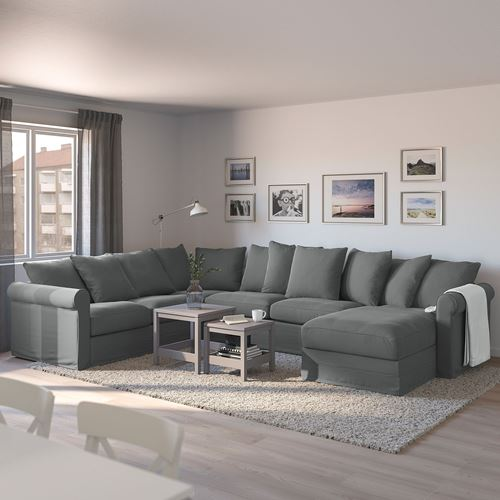 GRÖNLID,corner sofa-bed 5-seat and chaise longue
