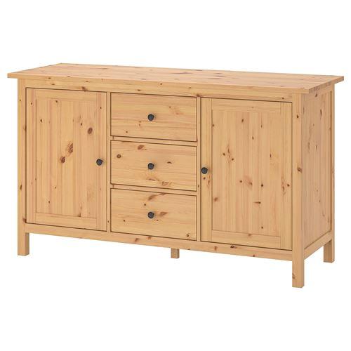Hemnes Cabinet With Doors Light Brown 157x88 Cm Ikea