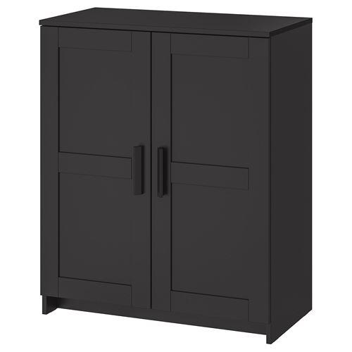 Brimnes Cabinet With Doors Black 78x95 Cm Ikea Living Room