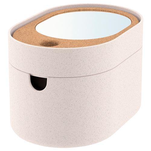 SAXBORGA Storage Box With Mirror Lid Plastic Cork 24x17 Cm