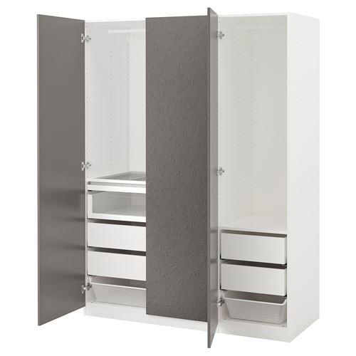 Paxflornes Bedroom Wardrobe Grey 150x60x201 CmIkea Whitedark wk08nOP
