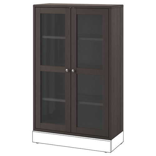 Marvelous Havsta Glass Door Cabinet Darkbrown 81X123X35 Cm Ikea Interior Design Ideas Apansoteloinfo