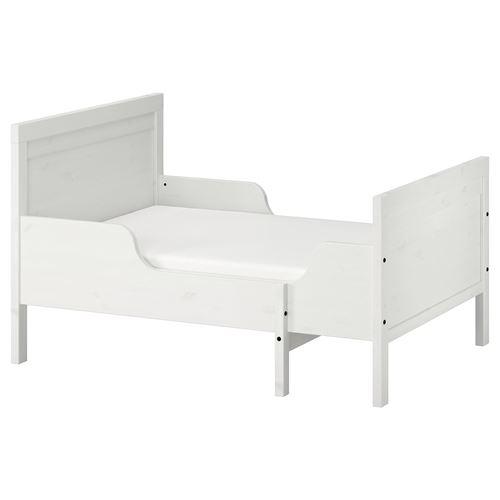 sundvik lur y uzayabilen ocuk karyolas beyaz 80x200 cm. Black Bedroom Furniture Sets. Home Design Ideas