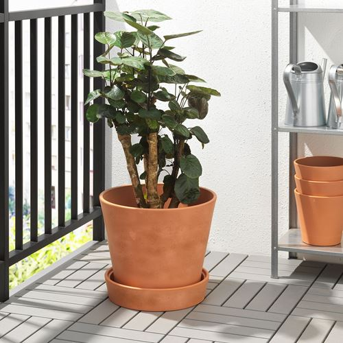 INGEFARA,plant pot with saucer
