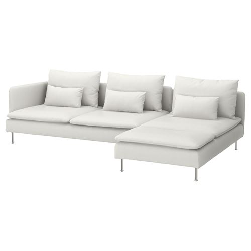 SÖDERHAMN 4-seat sofa and chaise longue finnsta white ...
