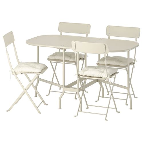 SALTHOLMEN,table+4 folding chairs