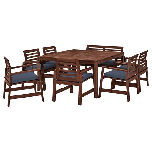 APPLAROdining Table Chair Bench With Backrest Set