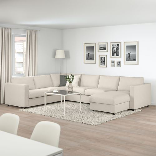 VIMLE,corner sofa-bed 5-seat and chaise longue