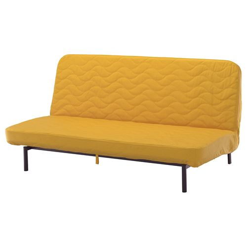 Nyhamn 3 Seat Sofa Bed Skiftebo Yellow With Pocket Spring