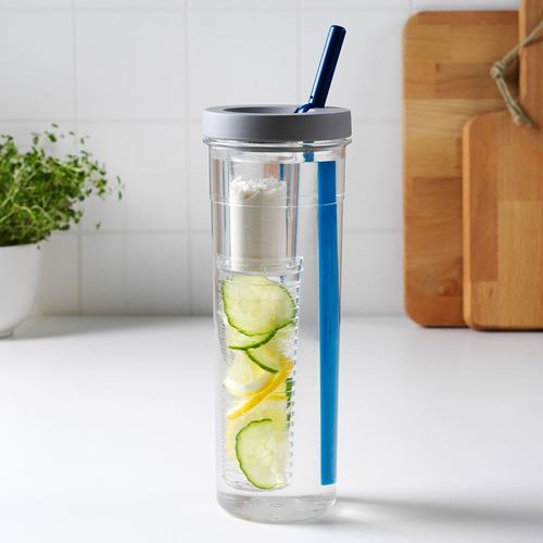 UPPLADDA,infusion bottle with straw