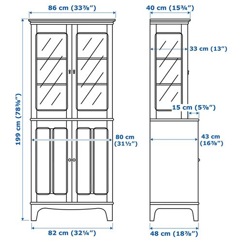 LOMMARP,glass-door cabinet