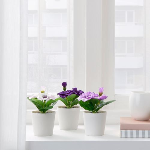 FEJKA,artificial potted plant with pot