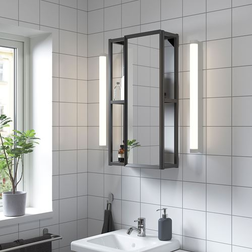 ENHET,open shelving unit with mirror