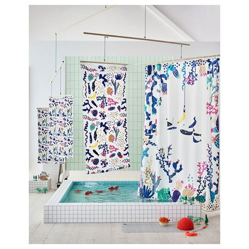 LASJÖN,shower curtain
